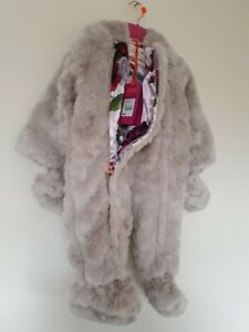 8c9bd39a6 Ted Baker Baby Girls Faux Fur Snowsuit   Mittens. 6-9 Months. RRP ...