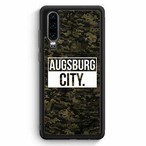 Augsburg-City-camuflaje-huawei-p30-Silicona-Funda-motivo-Design-Alemania-mie