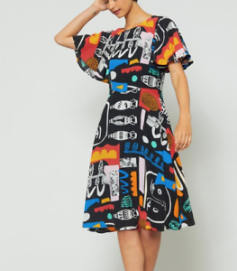 "💠 NEW Gorman x Claire Johnson Gorman ""Every Colour""  Silk Dress SZ 12-14 💠"