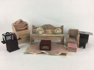 Details about Plastic Canvas Handmade Dollhouse Furniture Barbie Doll  Living Room Couch Phone