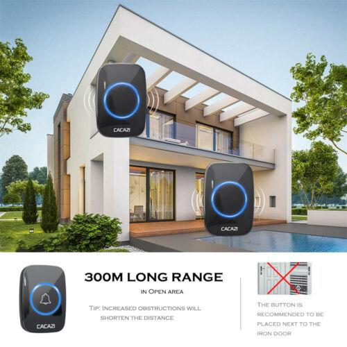 Wireless Waterproof Doorbell 300m Range Plug Home Intelligent Door Bell Chime