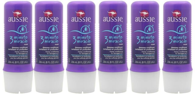 "6-Pack AUSSIE ""3-Minute Miracle"" Moist Deep Hair Conditioner 236 mL 8fl oz"
