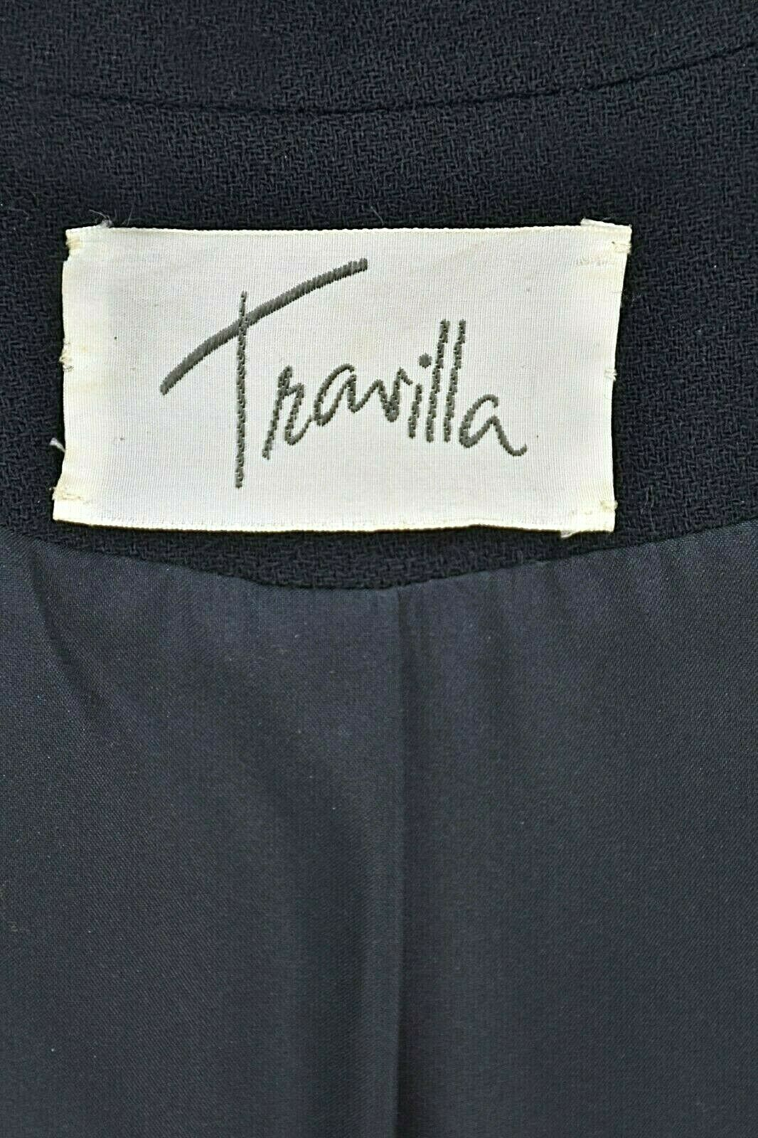 TRAVILLA Vintage Wool Crepe Skirt Suit with Persi… - image 6