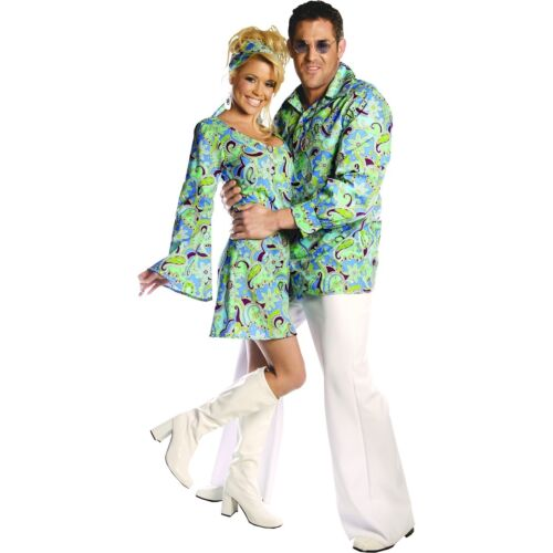 Bell Bottom Pants Adult Disco Flares 70s Halloween Costume Fancy Dress