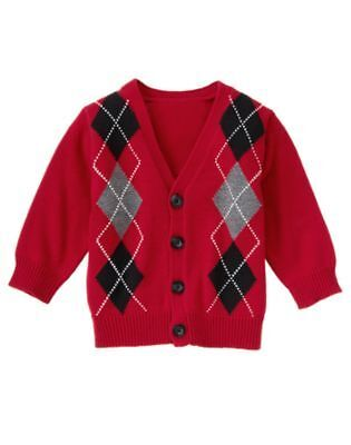 NWT Gymboree Girl/'s Reindeer Holiday Cardigan Sweater Size  3T
