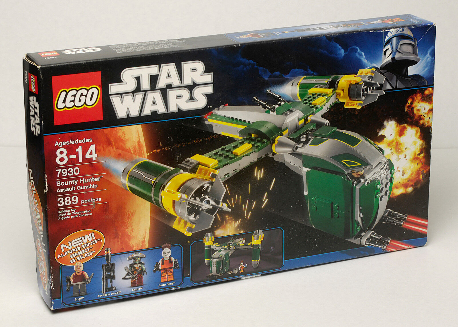 Lego Star Wars Set 7930 Bounty Hunter Assault Gunship  New in Box Retirouge