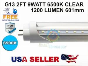 Details about G13 2FT 9W 6500K CLEAR 601mm 23.67