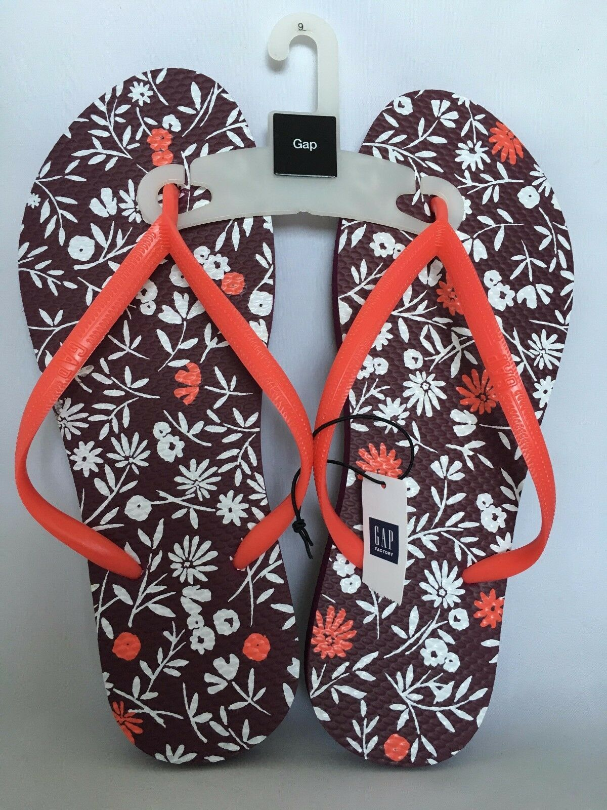 GAP WOMEN'S MULTI-COLOR WITH FLORAL SIZE PATTERN FLIP FLOPS SANDALS SIZE FLORAL 9 84a558