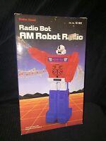 Vintage Rare Radio Bot Am Robot Radio Factory Sealed By Radio Shack Hong Kong