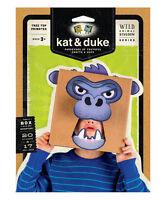 Kat & Duke Tree Top Primates Gorilla Wild Animal Kingdom Series Nip Mask