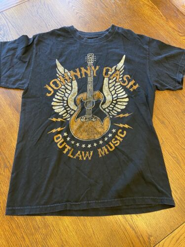 Johnny Cash Outlaw Music Graphic Shirt Sz M