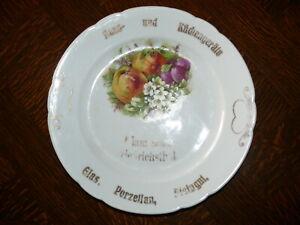 Rarität über 100 Jahre alter Teller  Jubiläumsteller Adam Bolp Friedrichstal   5
