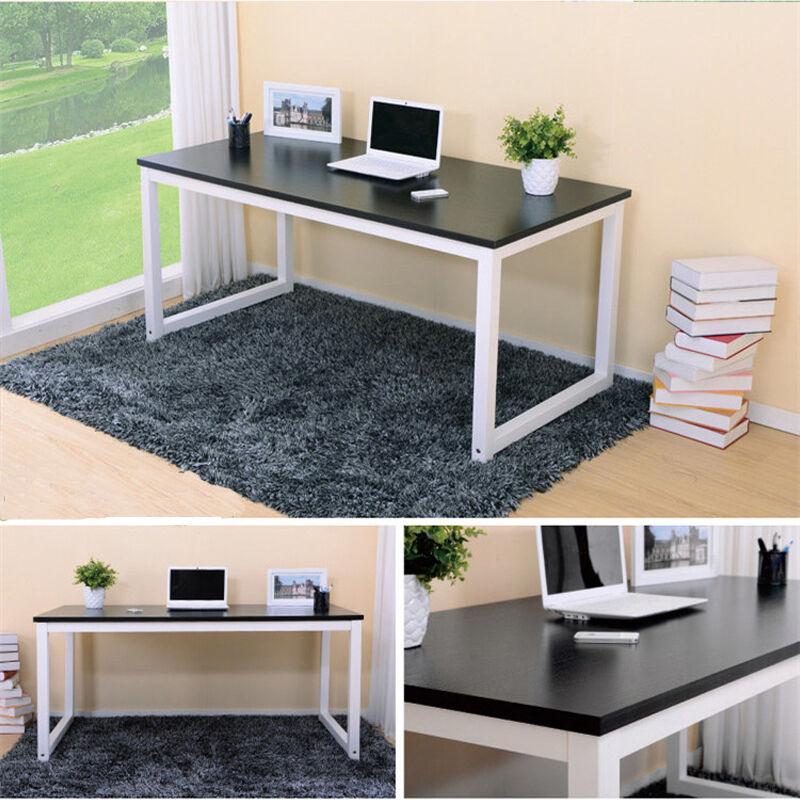 S-Shaped Corner Computer Desk Compact Laptop Table Home Office Study Corner Desk 3