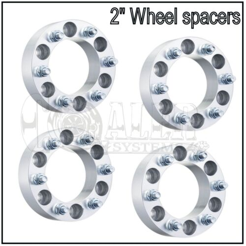 "Set of 4 Wheel Spacers 2/"" Aluminum Adapters 6x5.5 Fits Chevrolet Avalanche 07-13"