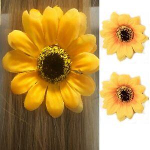 eb8a4eca2f706 Details about Hair Clip SUNFLOWER Bun Flower Forked Grip Women Wedding Side  Pin Party Summer