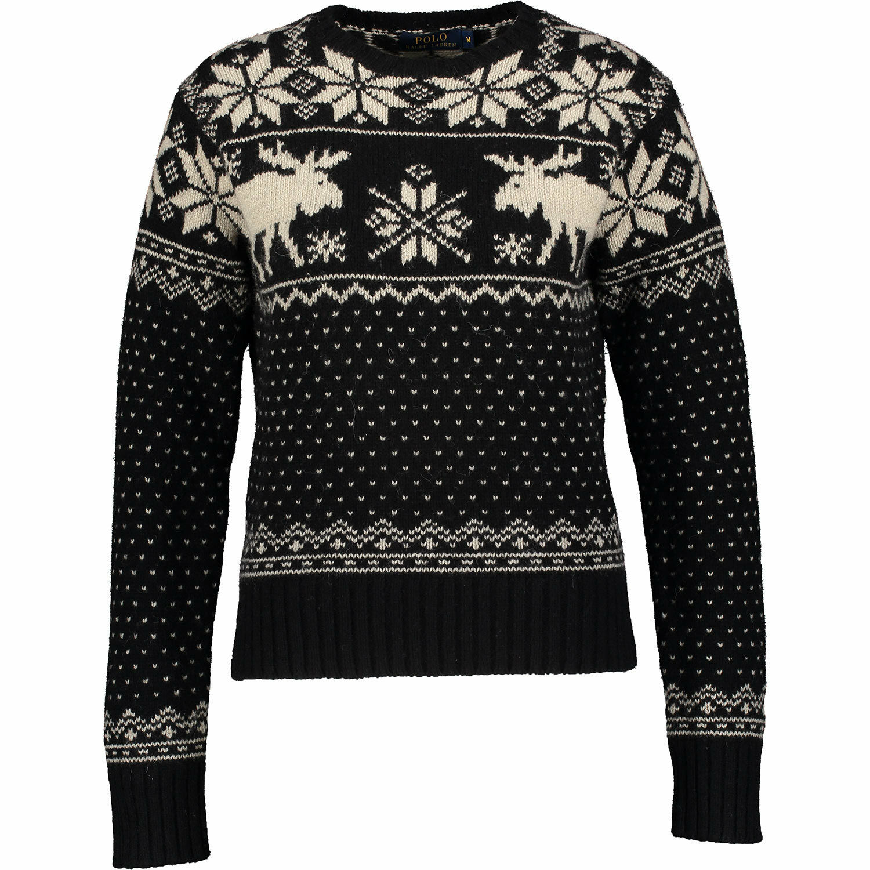POLO Ralph Lauren Lauren Lauren Renne Christmas Jumper Maglione di lana NUOVO tagbnwt XS S M a4474d