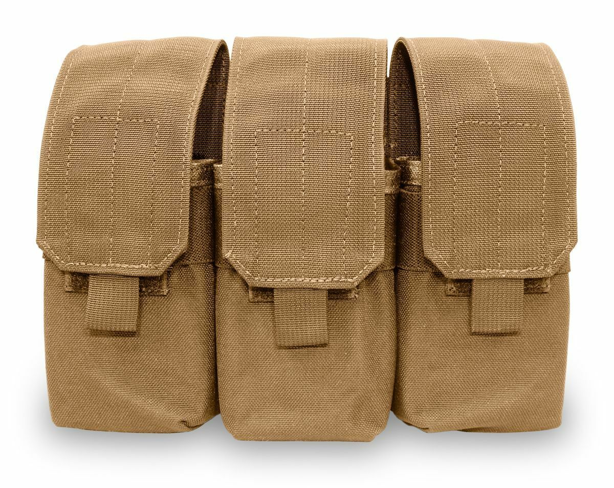Elite Survival Systems MOLLE Triple A R Mag Pouch, Coyote Tan ME103-T
