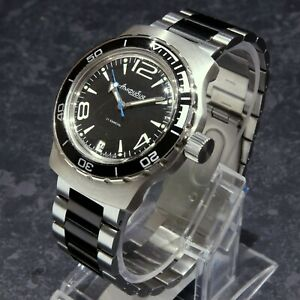 Vostok Amphibian Amphibia Custom Russian Auto Dive Watch New Boxed Uk Seller Ebay