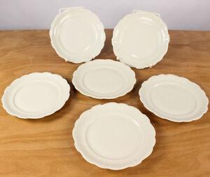 Rosenthal-Pompadur-Porzellan-6-x-Dessert-Kuchen-Teller-40er-50er-Jahre