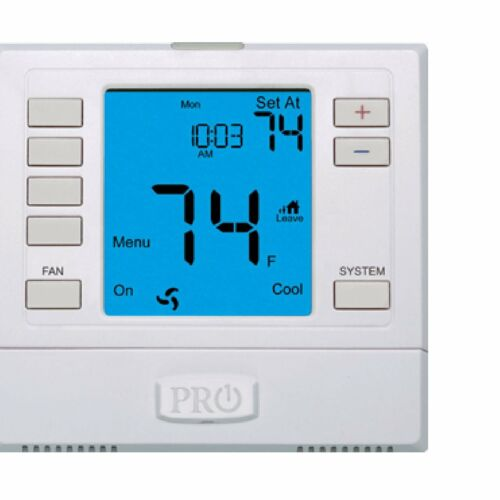 Elect Digital Thermostat PRO IAQ T755 Programmable Stages 3 Heat//2 Cool 5-5-1 Da