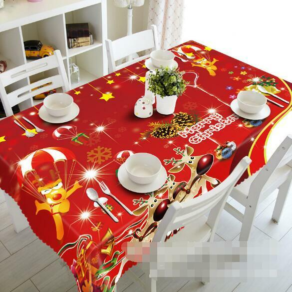 3D Bright Xmas 53 Tablecloth Table Cover Cloth Birthday Party Event AJ WALLPAPER