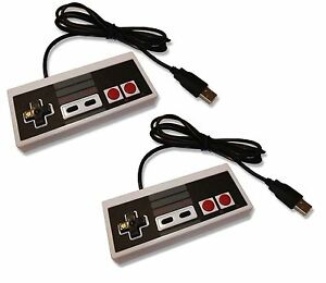2-x-PC-USB-NES-Retro-Style-Control-Joy-Pad-Controller-UK-Seller