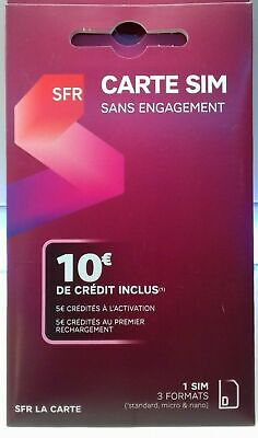 sfr la carte activation Sfr sim card without commitment 10 € credit included | eBay