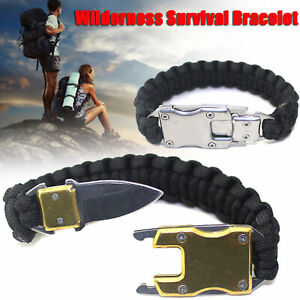 Skull-Paracord-Survival-Braccialetto-Outdoor-Sports-Packet-Knife-Camping-Rope