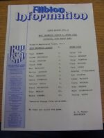 24/03/1984 Colour Teamsheet: West Bromwich Albion v Stoke City (folded). Trusted