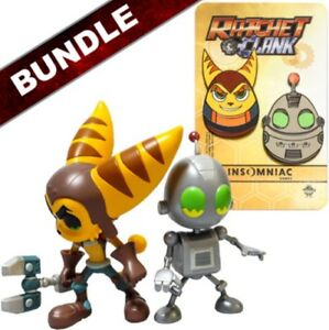 Ratchet Clank Vinyl Action Figure Bundle Pin Set Insomniac 4 25