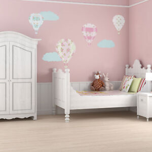 Details about Vintage hot air balloon wall stickers   Transport themed room  decor