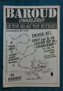 Revue-BD-Baroud-Charleroi-Salon-nov-1987-Franquin-Marsupilami-Jarry-Costa