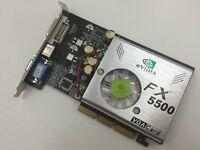 256MB Nvidia GeForce FX5500 AGP 4x 8x Grafikkarte 256 MB AGP VGA Grafik Karte