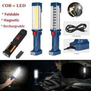 COB-LED-Hand-Torch-Lamp-Magnetic-Inspection-Work-Light-Handheld-USB-Rechargeable