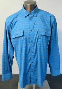Mens-St-Johns-Bay-Hiking-Shirt-Long-Sleeve-Button-Front-Terra-Tek-Quick-Dry-L