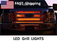Led Truck Grill Lights -- 2004 2003 2002 2001 2000 1999 Ford F250 F150 Part