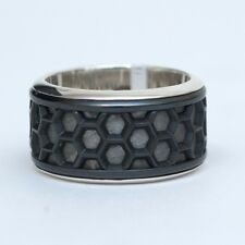 New DAVID YURMAN Mens Limited Edition Honeycomb Ring Titanium Meteorite 10 $1100