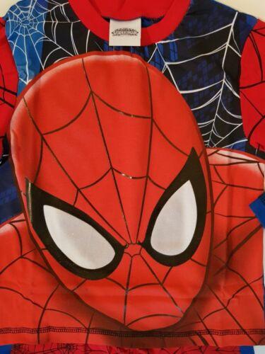 5-6 anni SPIDER-man Boys Spiderman Pigiama FULL FACE 100/% Cotone Pigiama 2-3 4-5