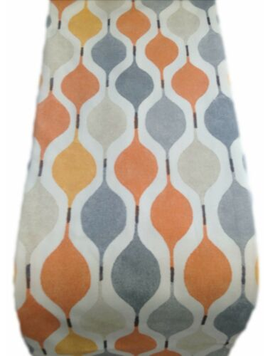 TABLE RUNNER fully lined xmas wedding made in VERVE col.juice orange grey