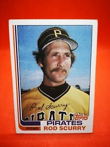 Topps 1982 carte card Baseball MLB NM+/M Pittsburgh Pirates #207 Rod Scurry