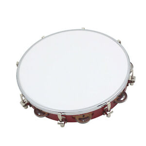 """New 10"""" Double Row Jingle Percussion Tambourine for Church Band Music"""