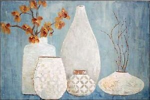 Stillleben Modern tava studios light keilrahmen bild leinwand vasen stillleben