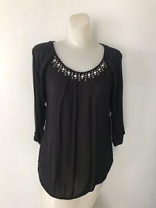 ELLA MOSS Women's Black Top Size XS NEW w/Tags