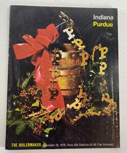 Indiana-Hoosiers-vs-Purdue-Boilermakers-Football-Program-Nov-25-1978-Vintage