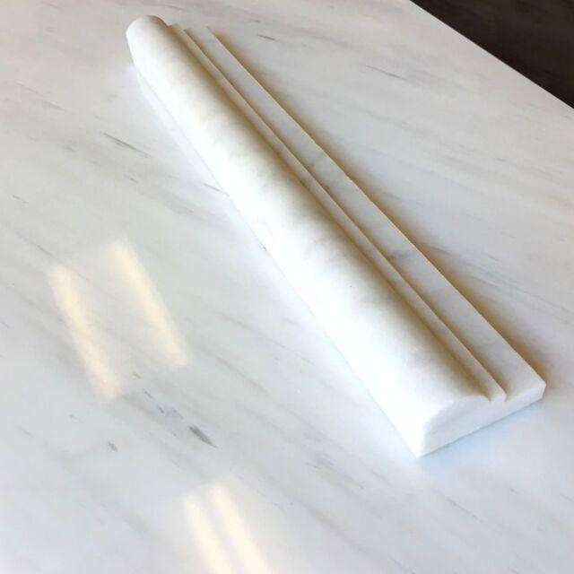 2x12 White Carrara Chair Rail Profile