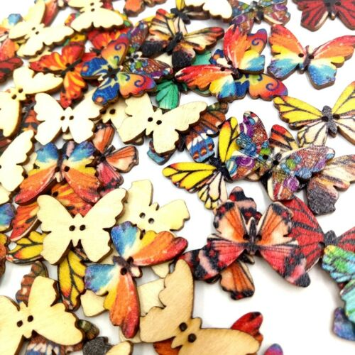 100 Pcs 2-Hole Wooden Buttons Crafts for DIY Decorative Sewing Accessories