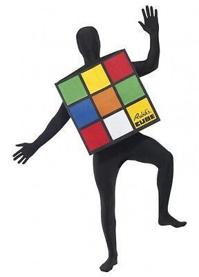 Adult Rubik's Cube Costume Fancy Dress 80's Costume Rubiks Rubix Cube Top 80s