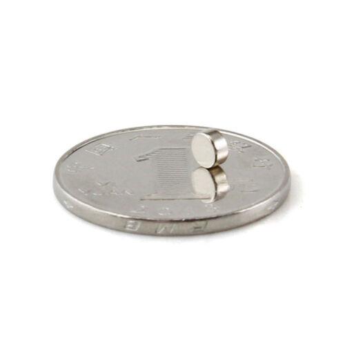 100 Starke Neodym Magnete Super Magnete Pinnwand runde Magnet 4x2mm N35 NdFeB