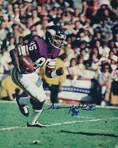w//COA Autographed Sammy White Minnesota Vikings 8x10 photo