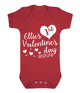 personalised first valentines day baby vest babygrow one piece, Ideas